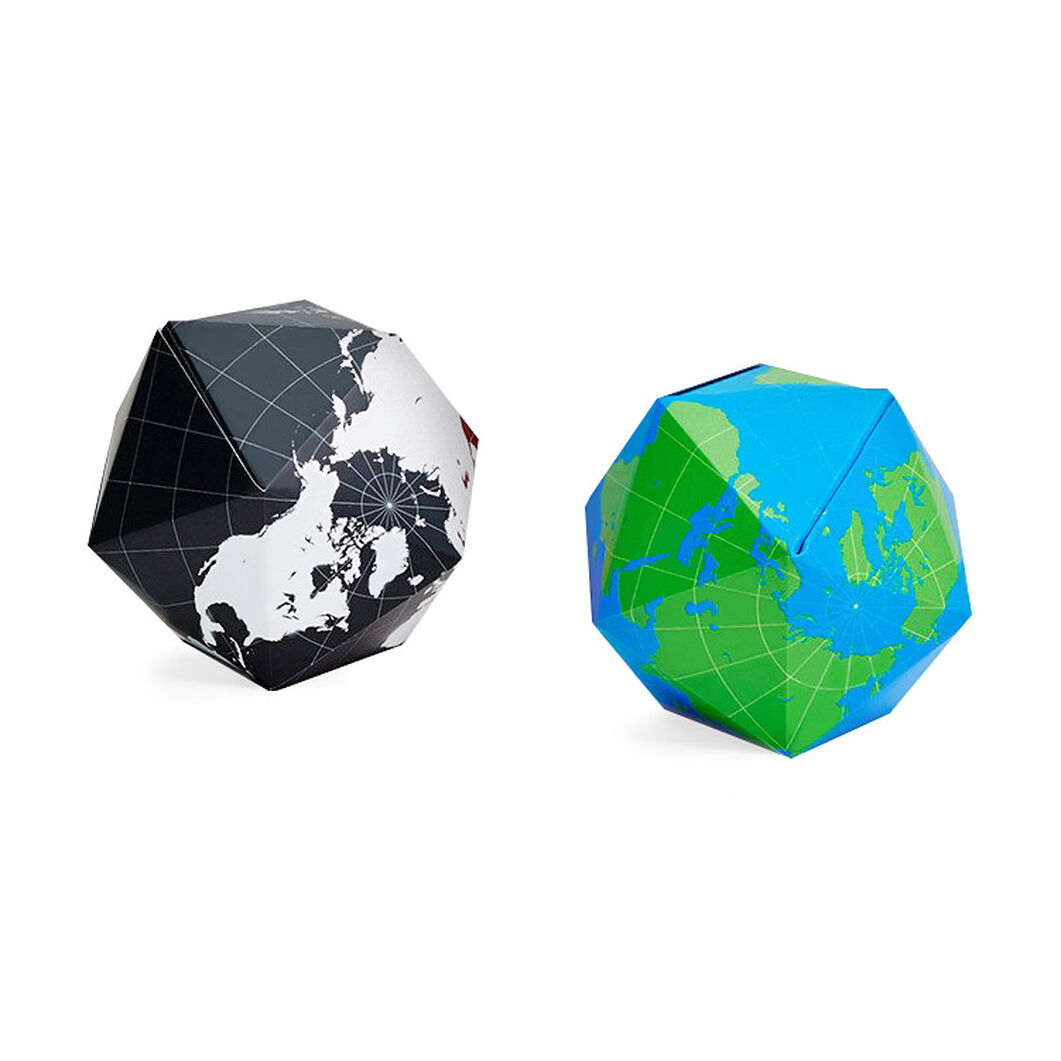 Dymaxion Globe - Blue/ Green in color Blue/ Green