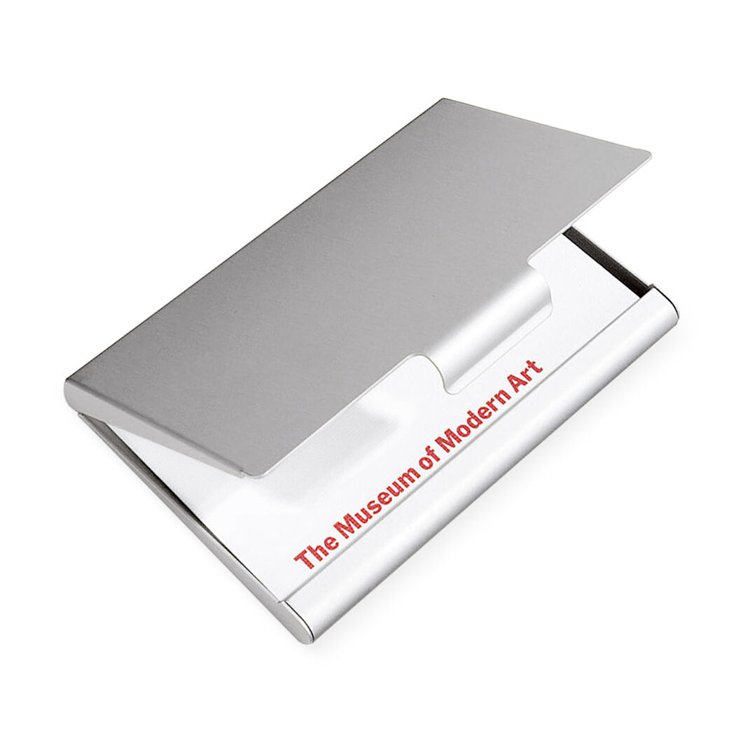 Muji aluminum business card case moma design store for Muji business card holder