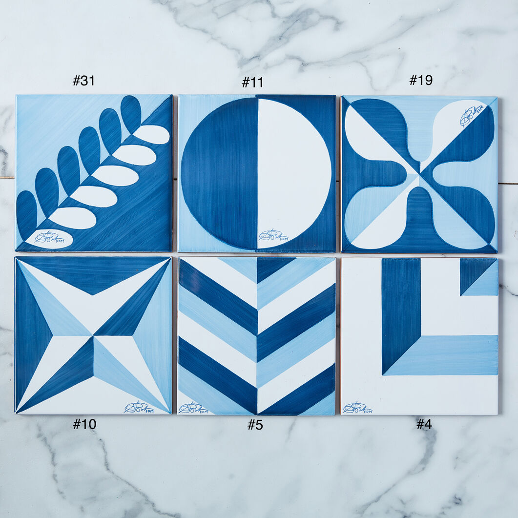 Blu Ponti Ceramic Tile by Gio Ponti in color Blue