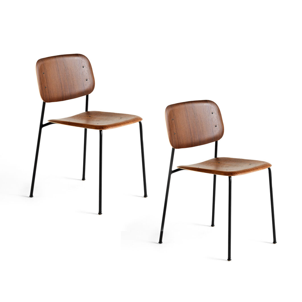 HAY Soft Edge Chair 10 - Set of 2 in color Smoked Oak/ Black