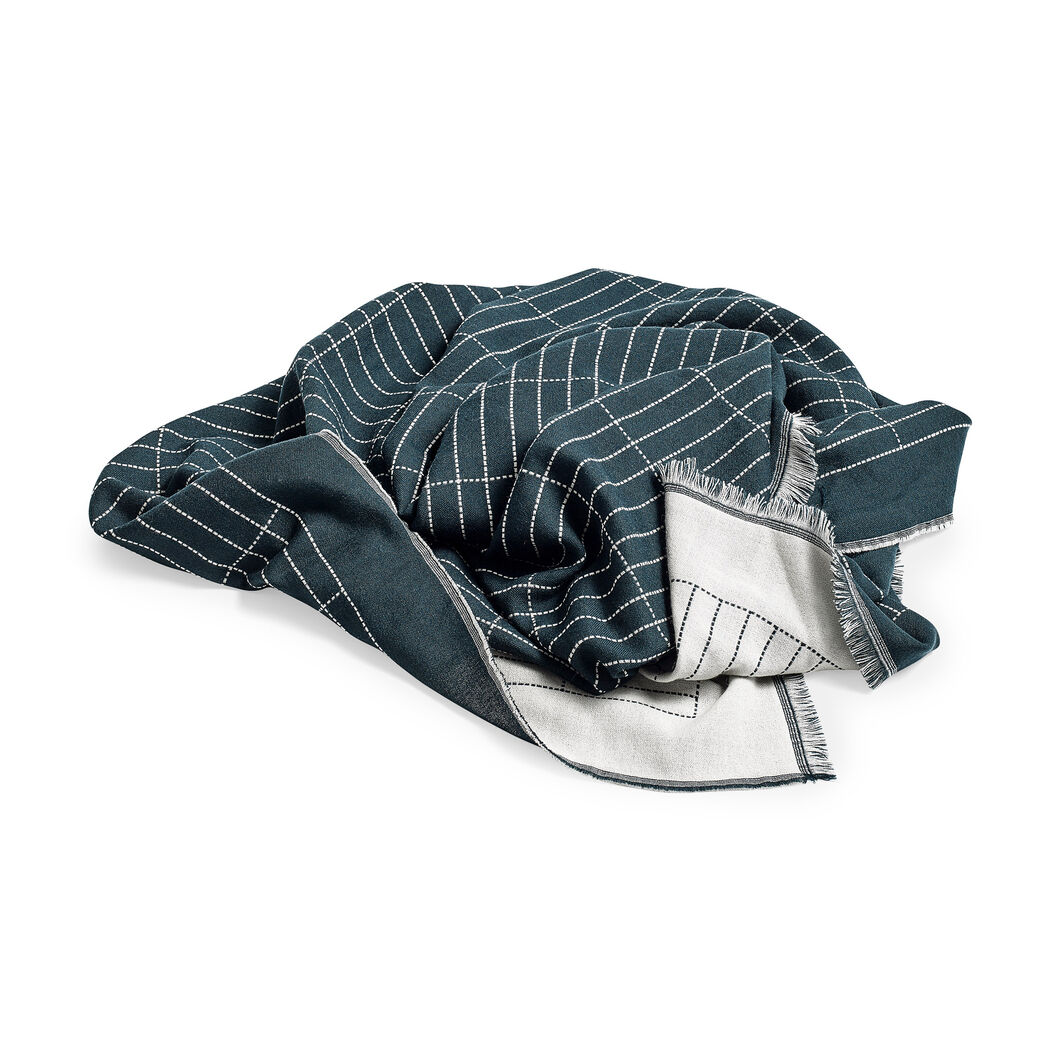HAY Checked Out Plaid Throw in color Green