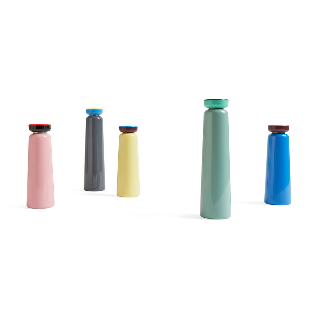 HAY George Sowden Water Bottles - Small in color Blue