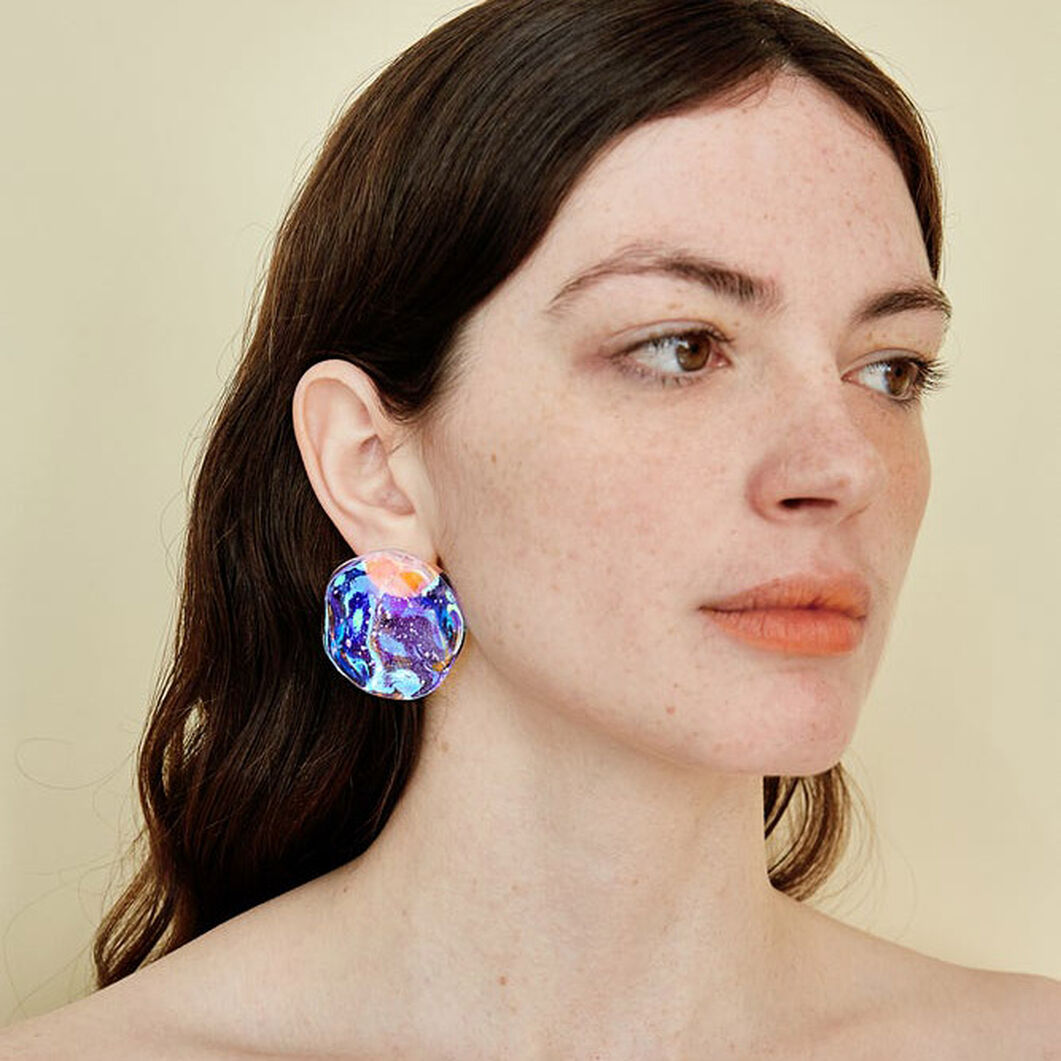 Reflection Earrings in color Clear