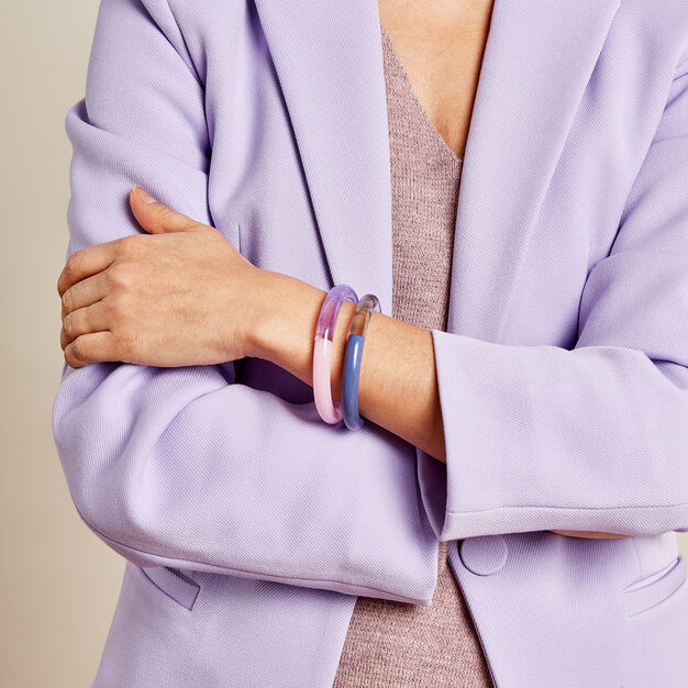 Keane Two-Tone Bangle in color Pink