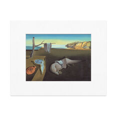 Dalí: The Persistence Of Memory Matted Print in color
