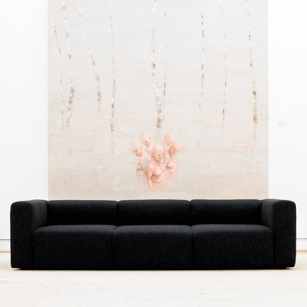 HAY Mags Three-Seater Sofa in color Charcoal