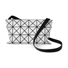 BAO BAO ISSEY MIYAKE Large Lucent Basic Cross Body Bag- White in color White