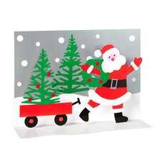 Santa's Wagon Holiday Cards (Box of 8) in color