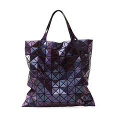 BAO BAO ISSEY MIYAKE Prism Tote in color Metallic Purple