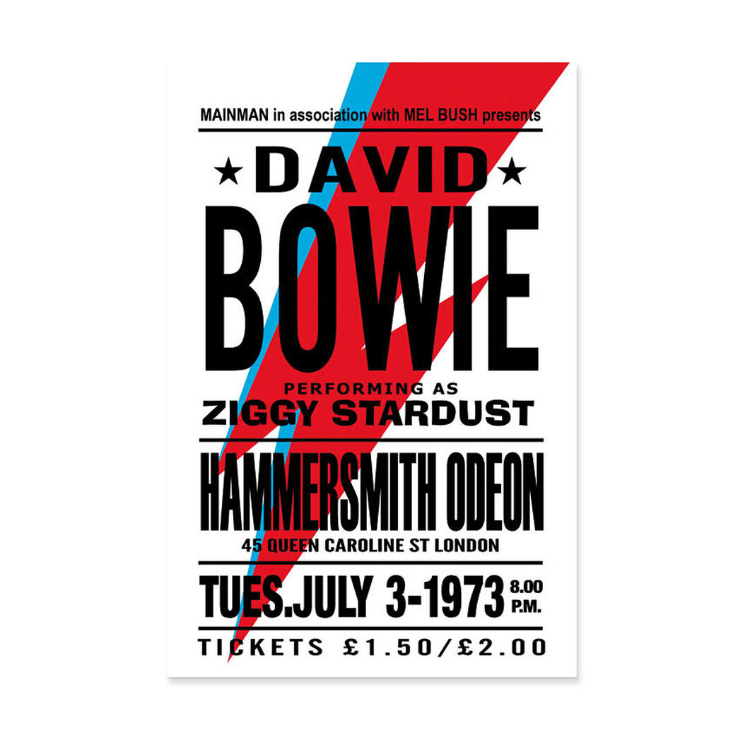 David Bowie: Ziggy Stardust Poster in color