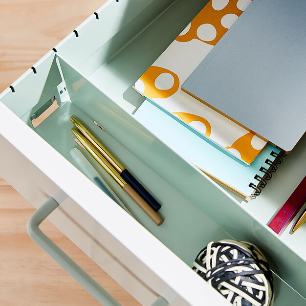 Poppin Stow 3-Drawer File Cabinet in color