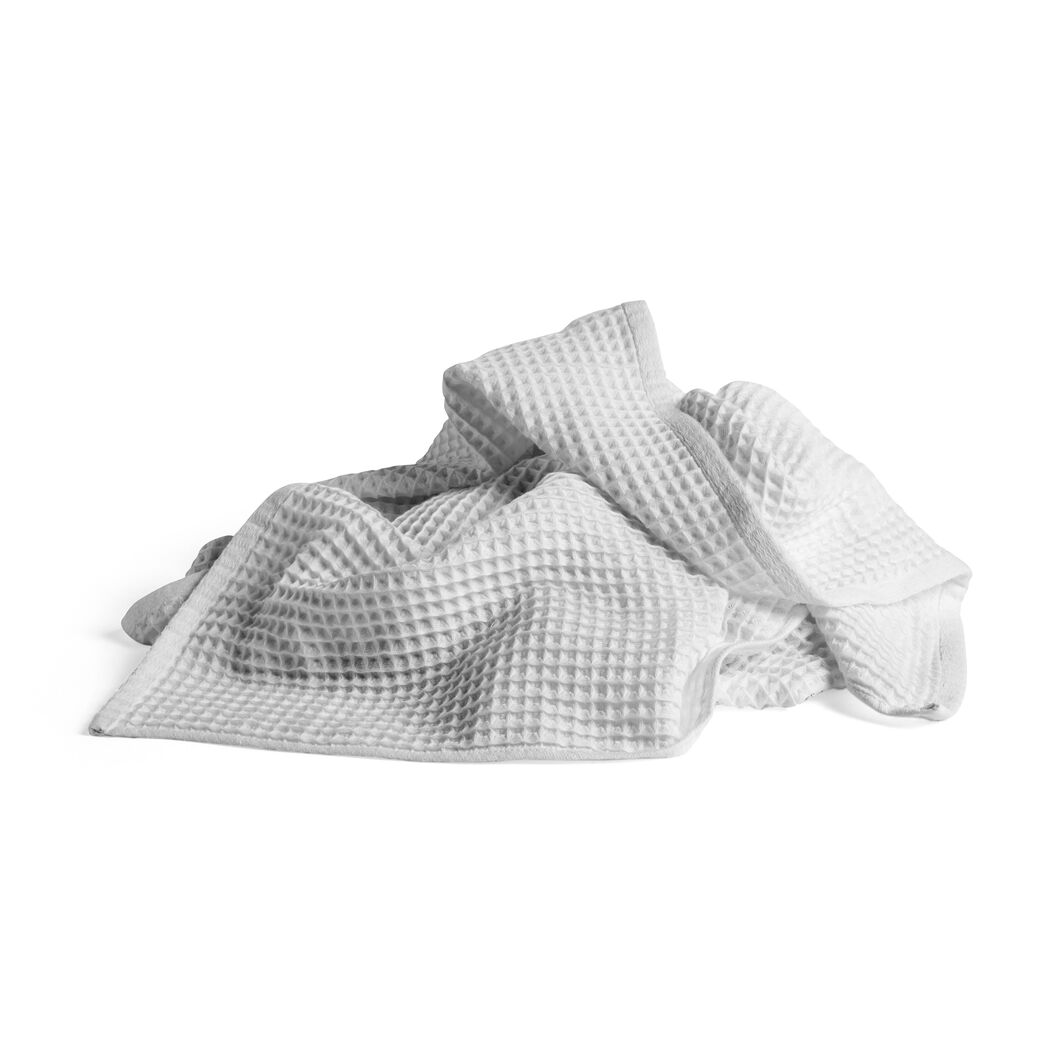 HAY Giant Waffle Bath Towel in color Gray