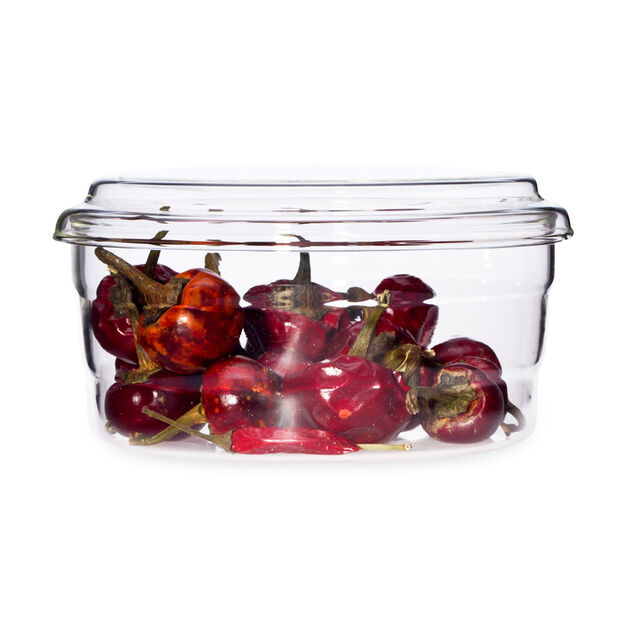 Round Nesting Glass Storage Containers in color