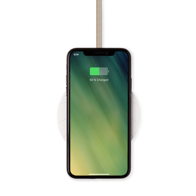Lexon Bali Extra-Slim 10W Wireless Charger in color White