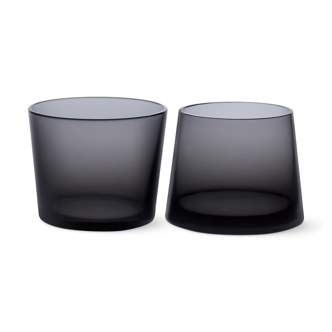 Black Whiskey Glass Set in color