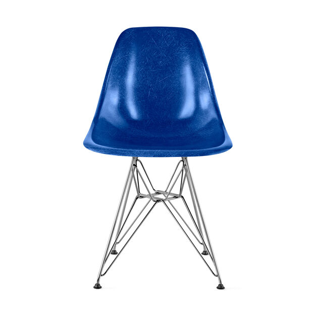 Eames® Molded Fiberglass Side Chair from Herman Miller© in color Ultramarine Blue