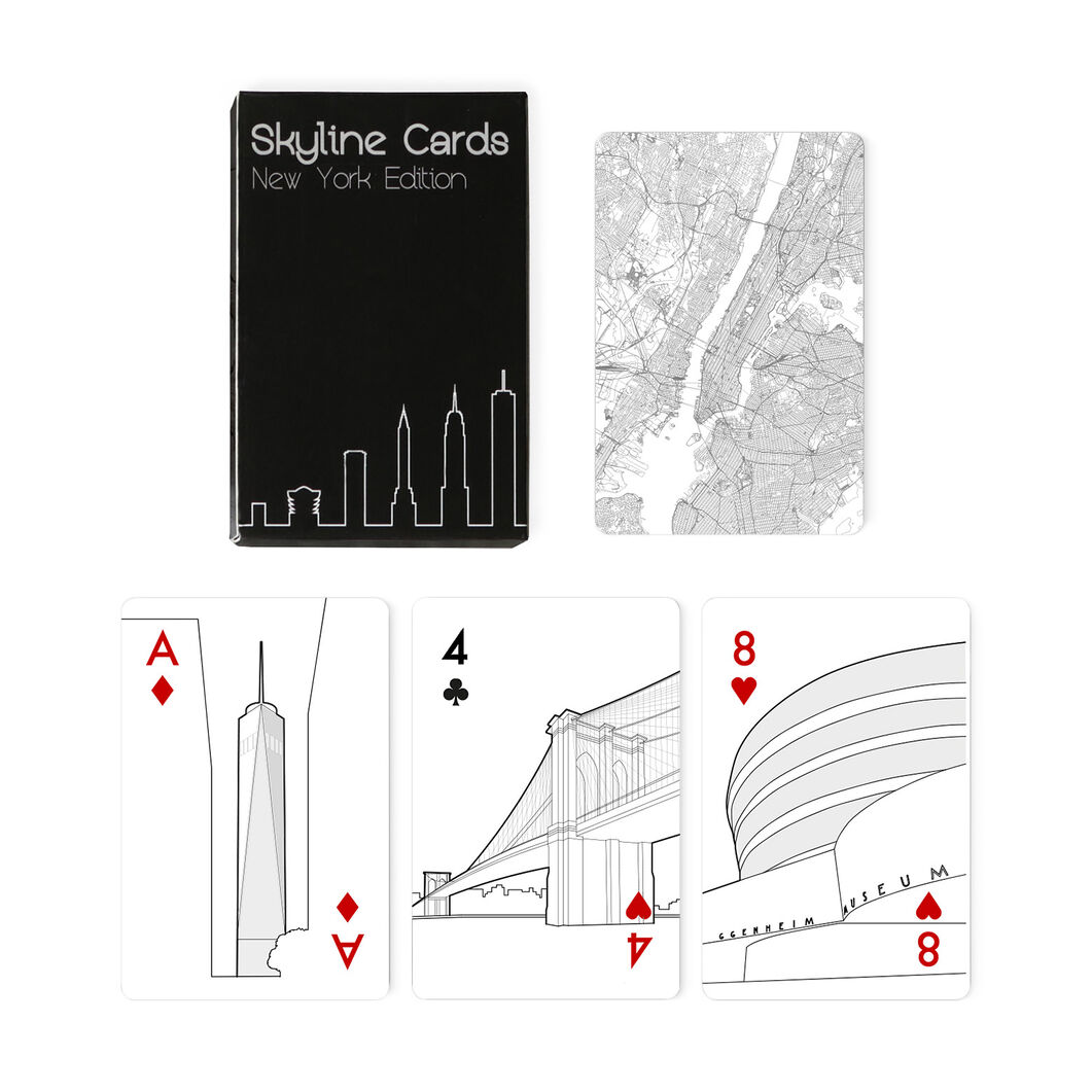 New York Skyline Playing Cards in color