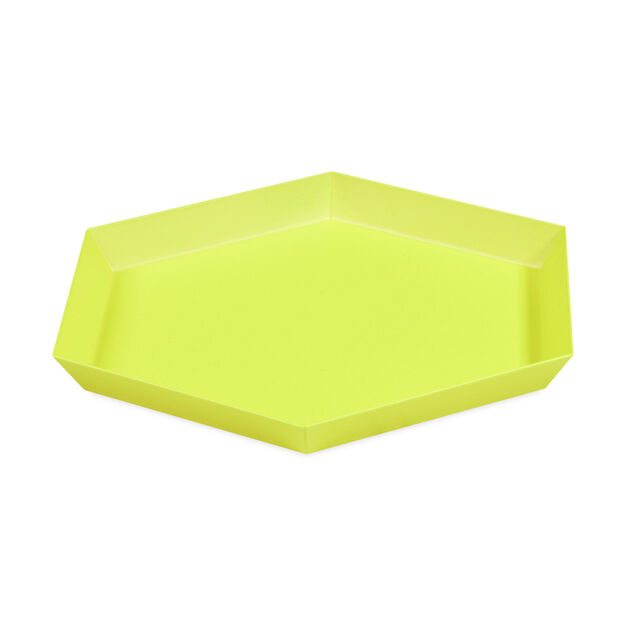 HAY Kaleido Tray Small in color Yellow