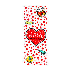 Yayoi Kusama Love Forever Heart Tea Towel in color