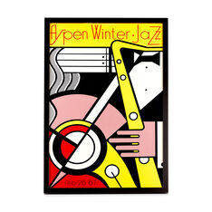 Roy Lichtenstein: Aspen Jazz Framed Poster in color