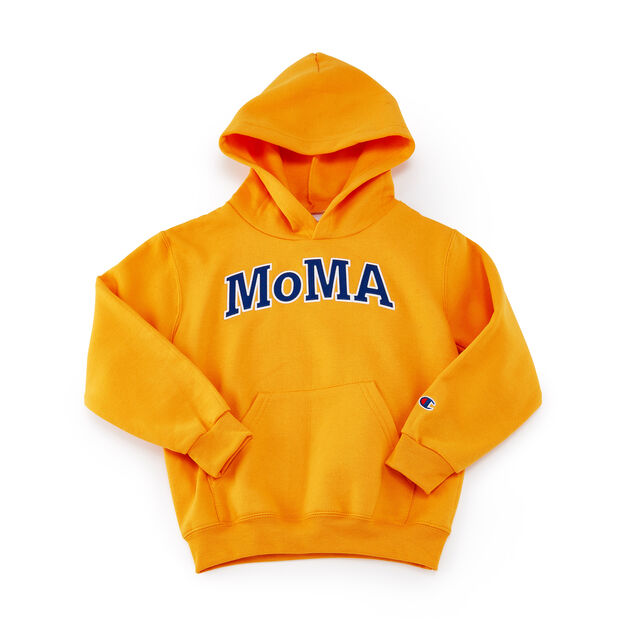 Kids' MoMA Champion Hoodie in color Yellow