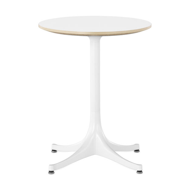 George Nelson™ Pedestal Side Table from Herman Miller© in color White