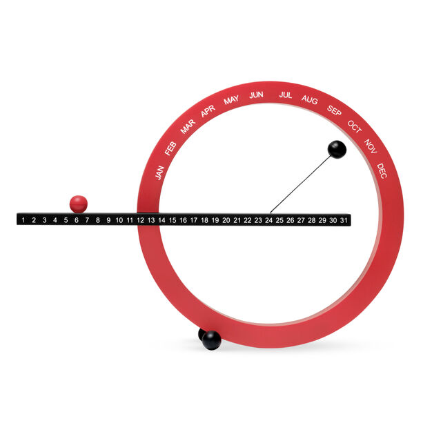 Perpetual Calendar  Small Red/Black in color Red/ Black