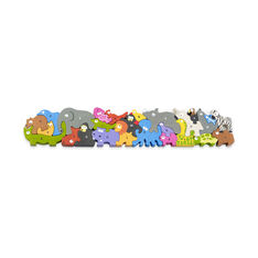 Animal Parade A-Z Jumbo Puzzle in color