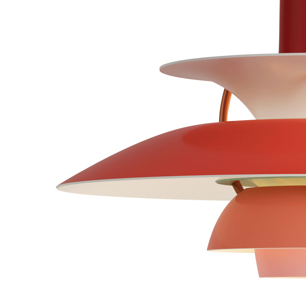 PH 5 Hanging Lamp in color Red