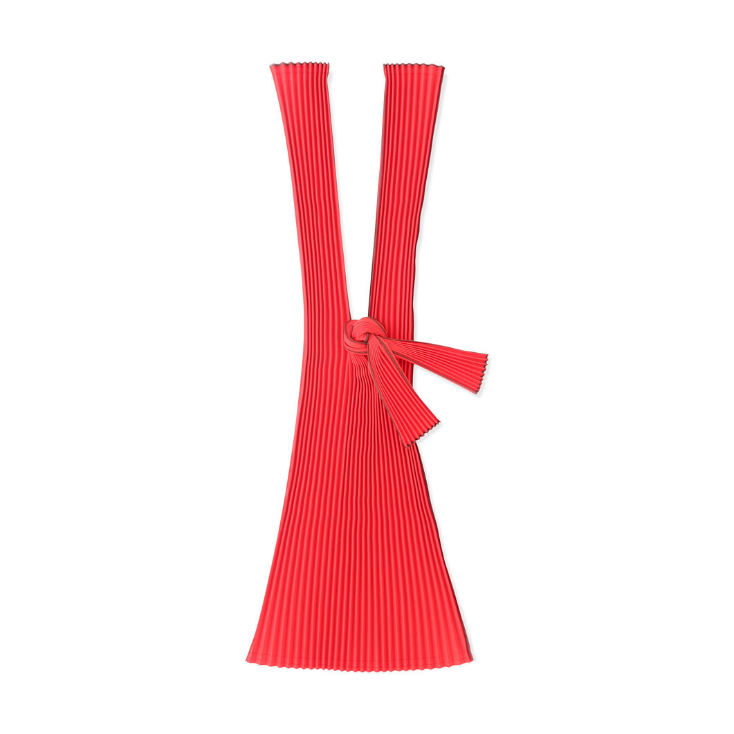 Japanese Pleated Tote in color Red