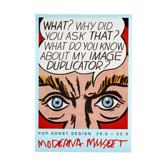 Roy Lichtenstein: Pop Kunst Design Poster in color