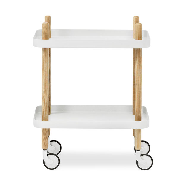 Block Table in color White