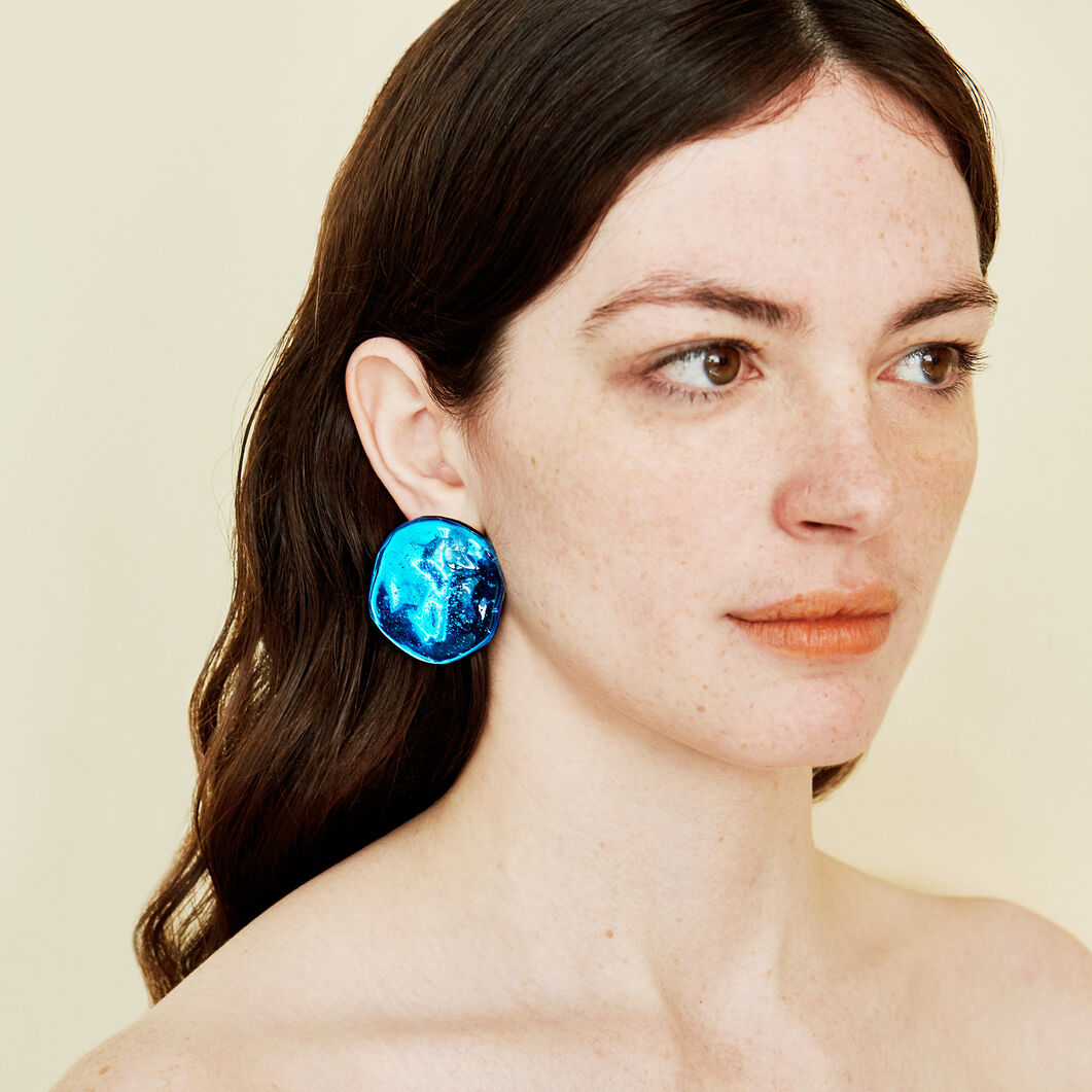 Reflection Earrings in color Blue