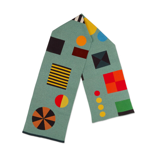 Jo Gordon Shapes Wool Scarf in color Mint