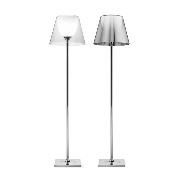 Flos Ktribe F2 Halogen Floor Lamp in color Transparent