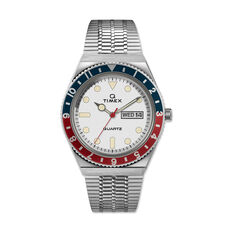 Q Timex Watch 1979 Reissue in color Blue/ Red