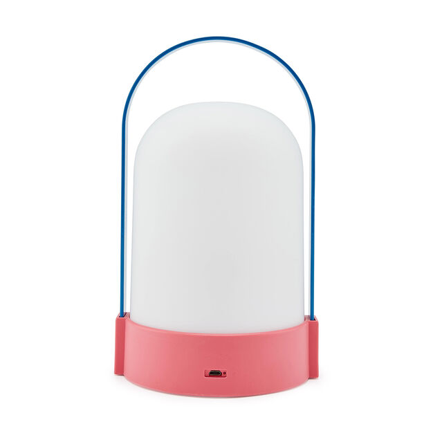 URI Portable Outdoor Table Lamp in color Blue/ Pink