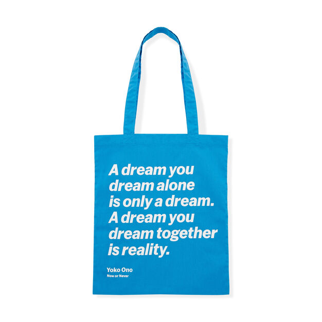 Artist Quote Totes in color Yoko Ono
