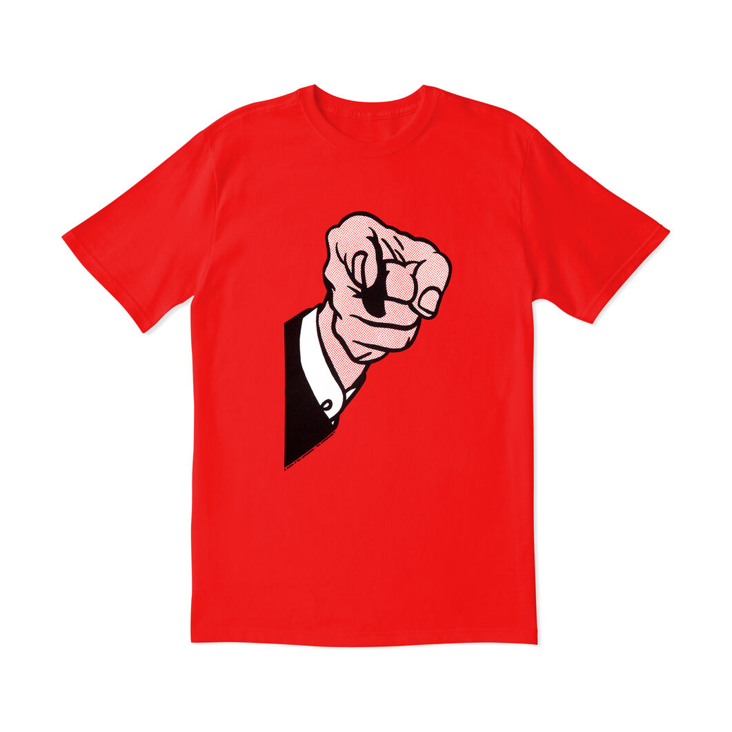 Roy Lichtenstein: Finger Pointing T-Shirt in color Red