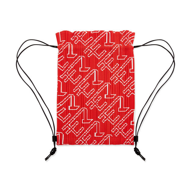 PLEATS PLEASE ISSEY MIYAKE Pleats Knapsack for MoMA in color Red