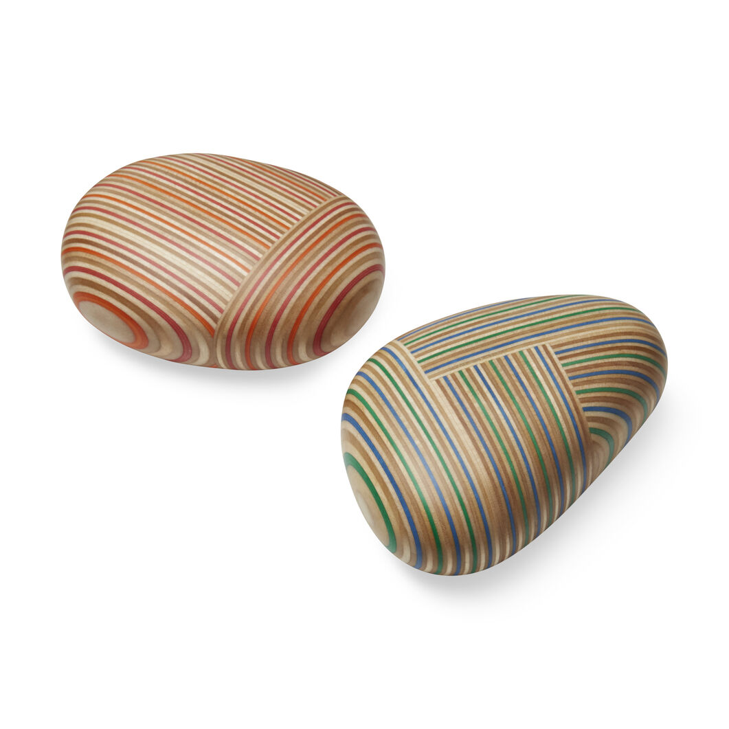 Koishi Wood Paperweights in color Orange/Red