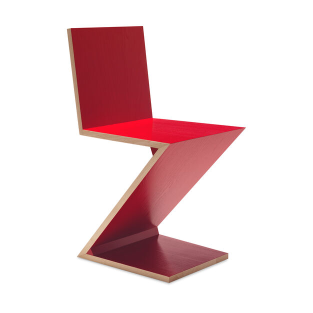 Zig Zag Chair in color Red