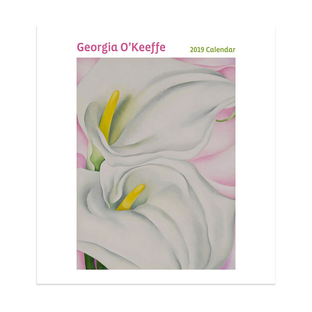 2019 Georgia O'Keeffe Wall Calendar in color