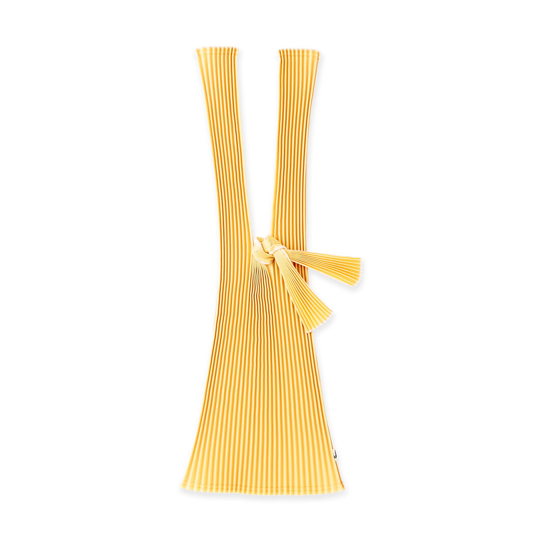 Japanese Pleated Tote in color Yellow