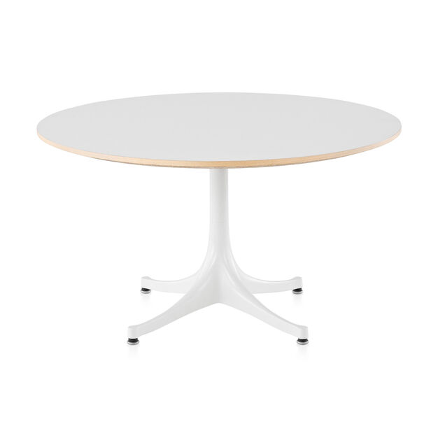 George Nelson™ Pedestal Coffee Table from Herman Miller© in color White