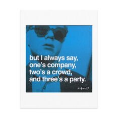 Matted Print Andy Warhol: But I always say in color