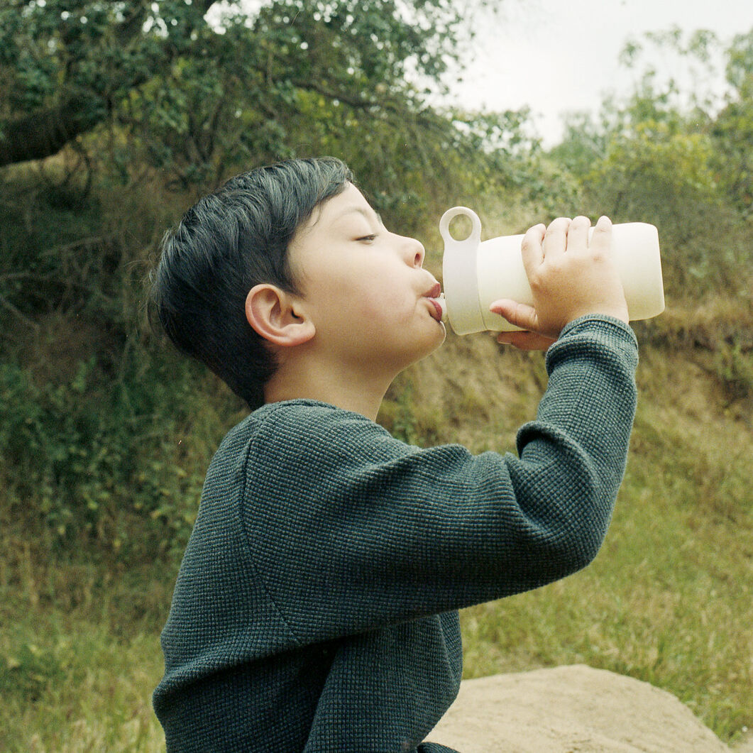 Kinto Water Bottle for Kids in color White