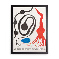 Alexander Calder: Our Unfinished Revolution Framed Poster in color