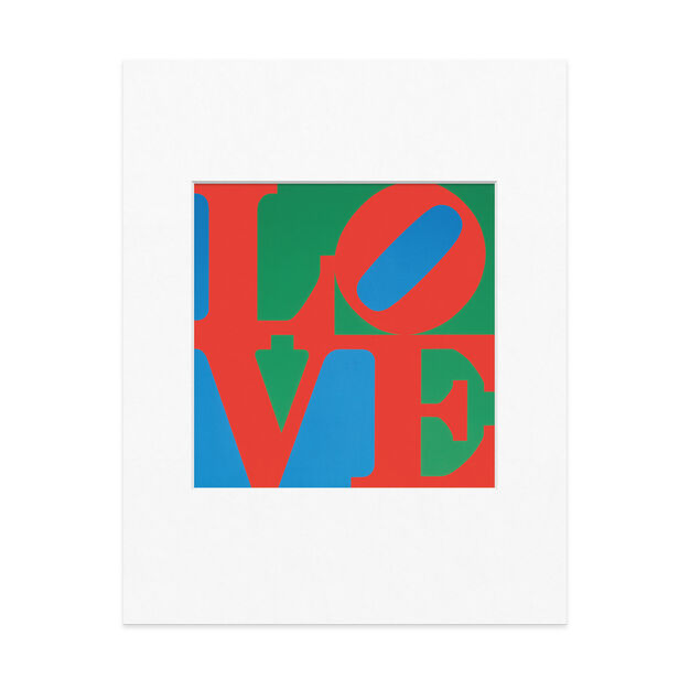 Indiana: LOVE Matted Print in color