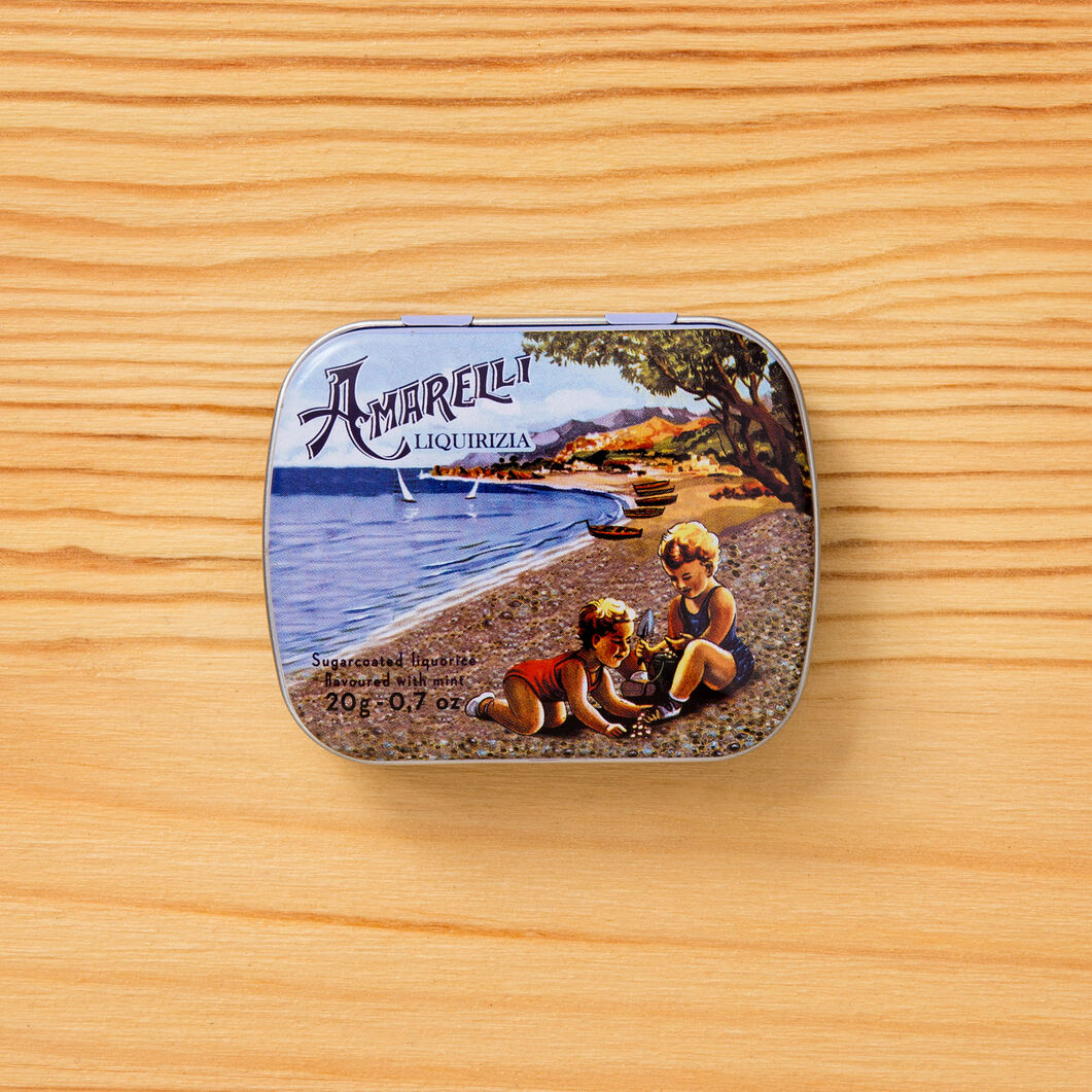 Amarelli Rossano Licorice Hard Candy in color Mint